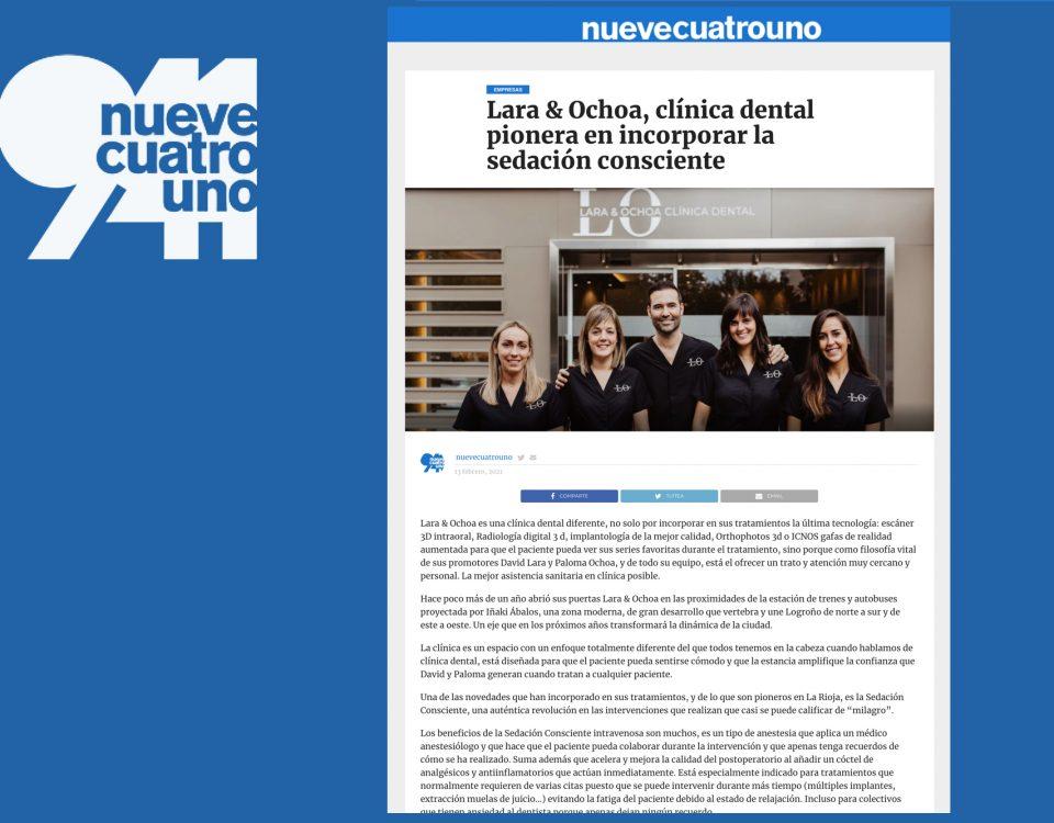 NueveCuatroUno - Lara& Ochoa pioneros en sedación consciente