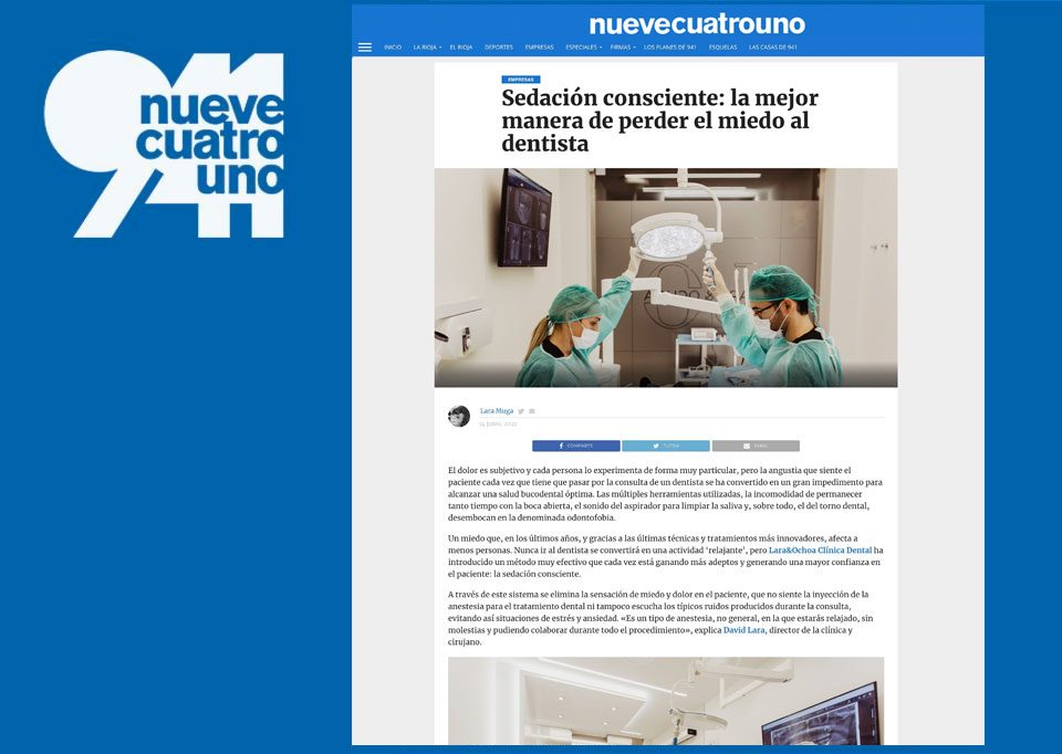 NueveCuatroUno - Sedación Consciente para el miedo al dentista